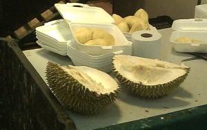 Durian halves